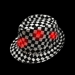 Flashing Fedora: Checkered with Red Lights